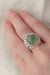 Dimminsdale Pool, One-of-a-kind Silver and Tourmaline Ring (number two)