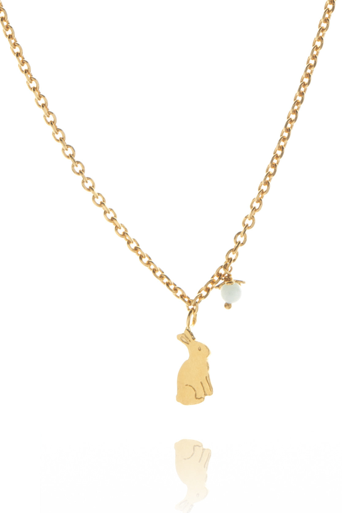22ct Gold Vermeil with pale blue amazonite