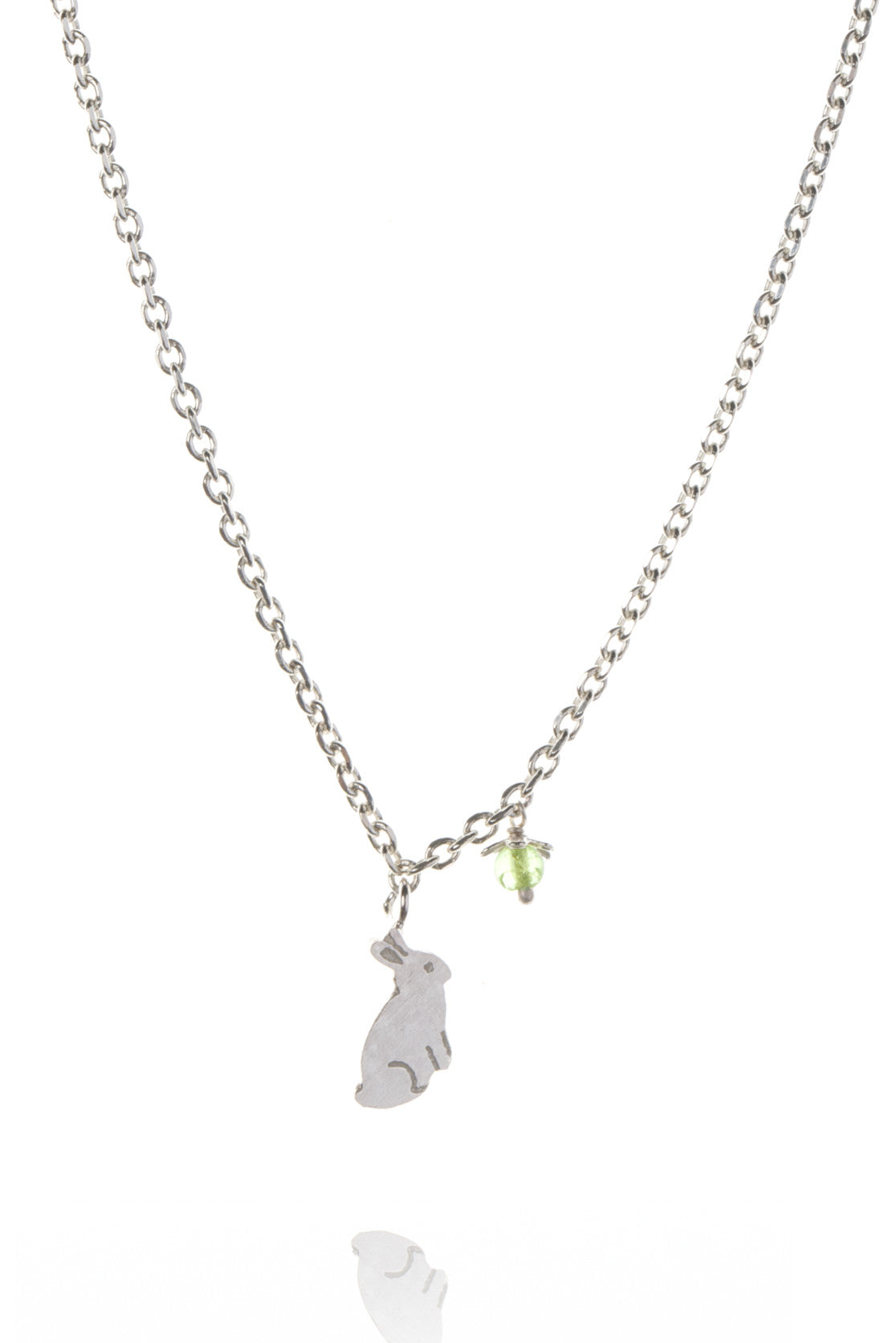 925 Sterling Silver with green peridot