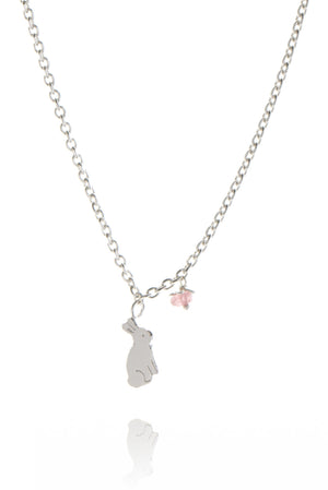 Bunny and Flower Pendant