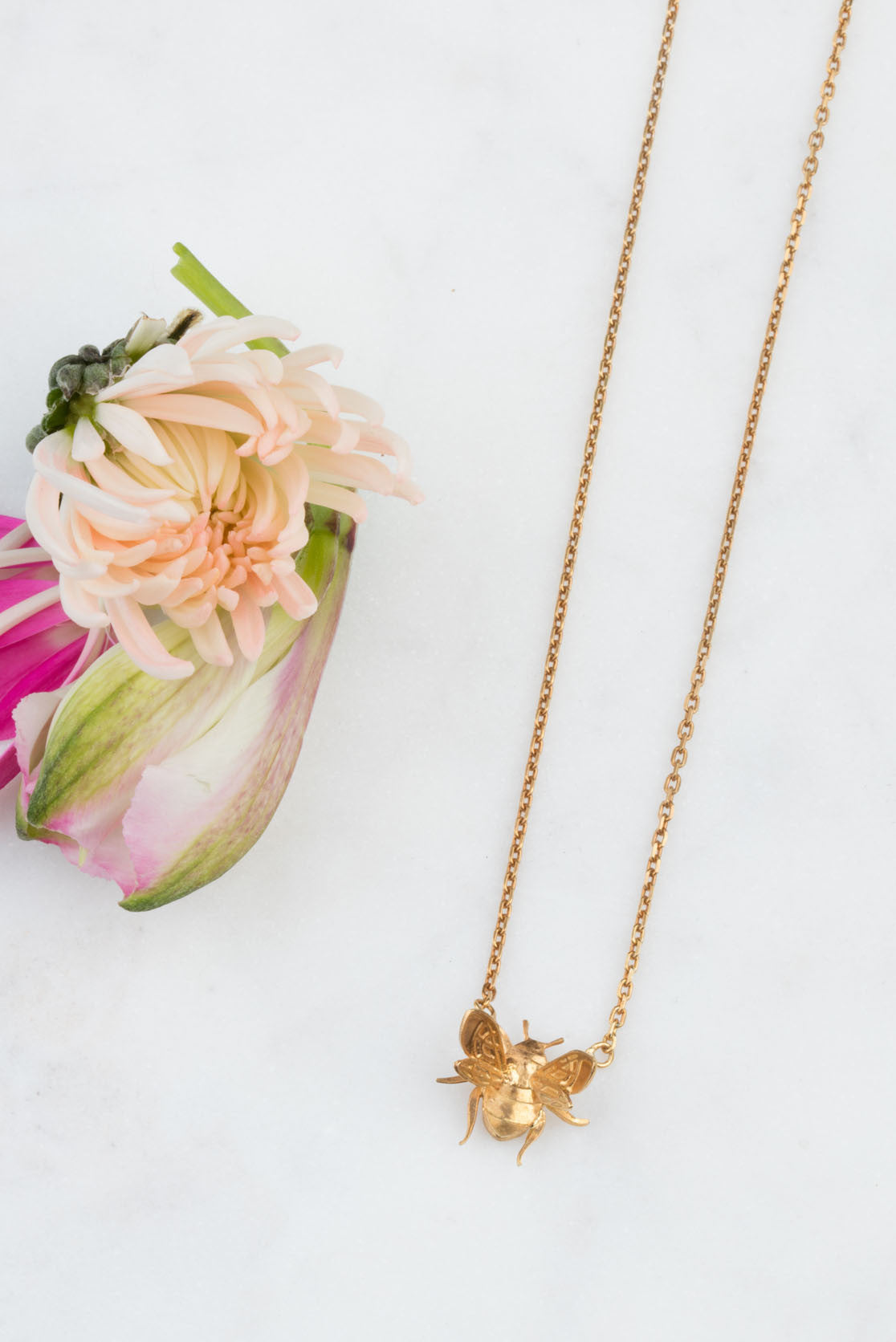 22ct Gold Vermeil Bee necklace