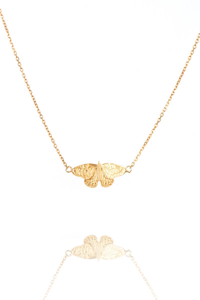 Sterling Silver or Gold Butterfly Pendant