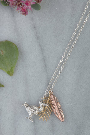 dodo and palm leaves necklace