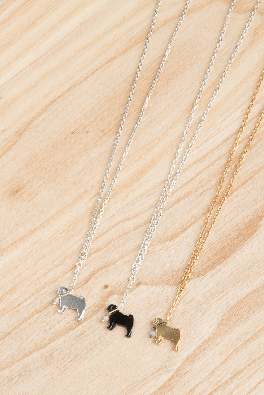 Pug On A Lead Necklace