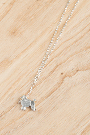 Poodle On A Lead Necklace