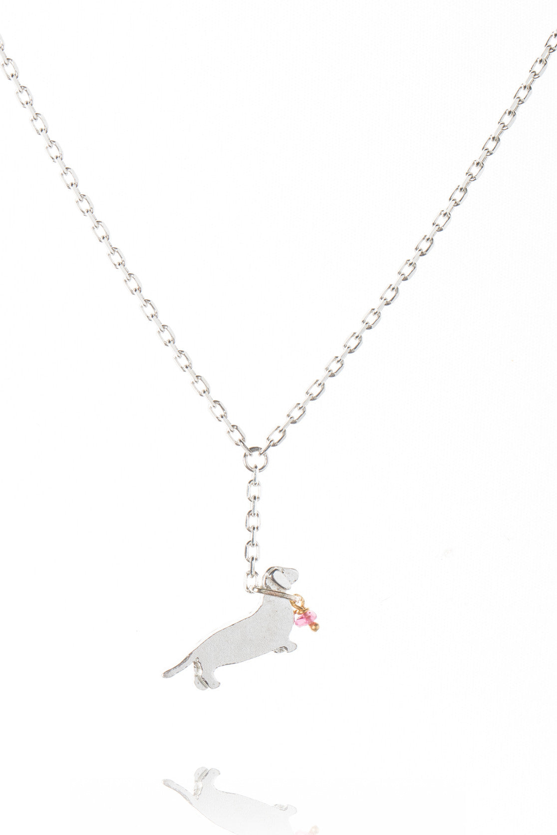 Sausage Dog On A Lead Necklace