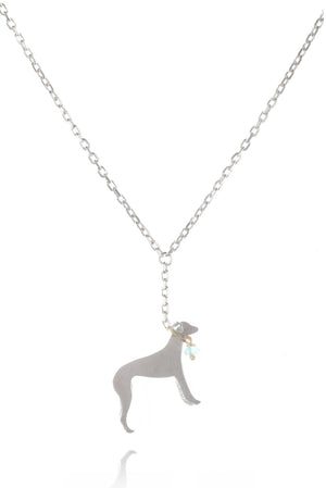 Whippet On A Lead Necklace