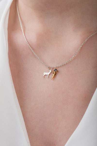 Stag and Fern Pendant