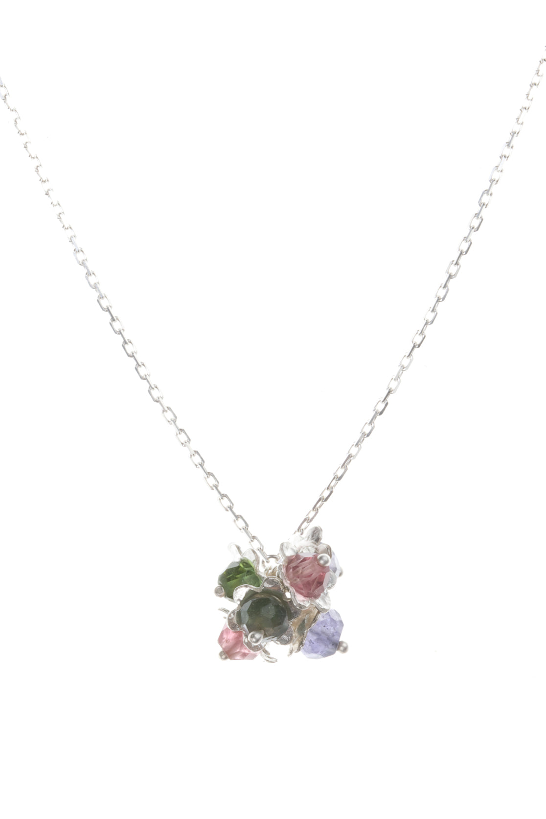 Forget-me-not cluster flower pendant