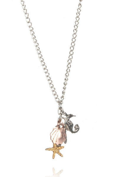Shells and Seahorse Cluster Pendant