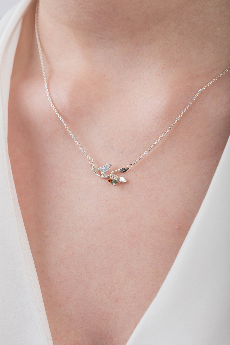 Bird on a Branch Necklace