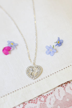 Initialed Love Heart Pendant