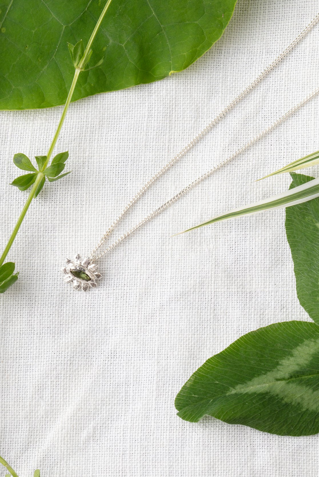 Marquise flower necklace