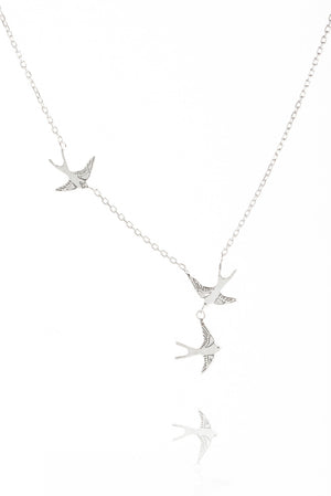 Three Swallows Necklace