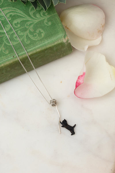 black kitten necklace