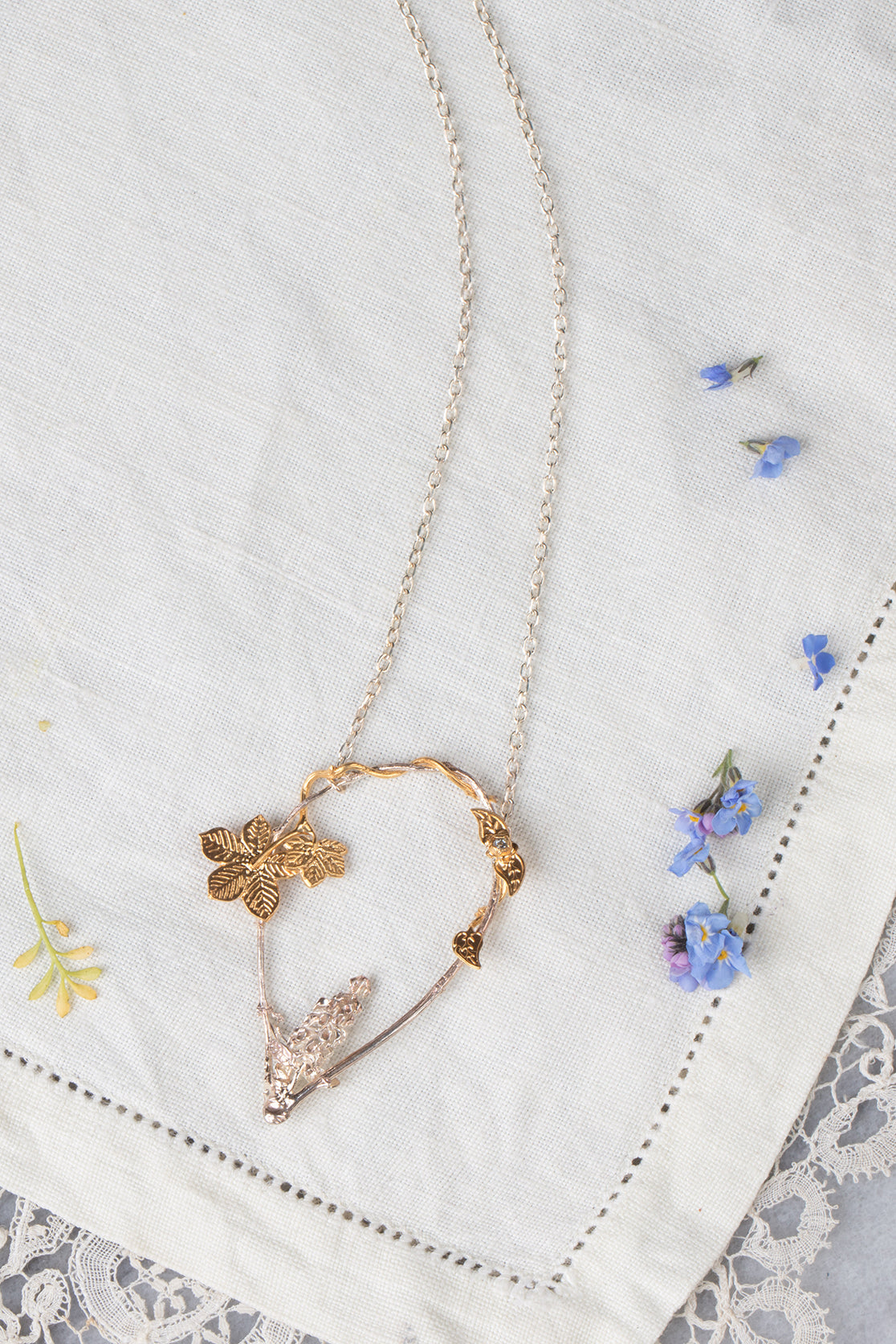 foxglove flower necklace