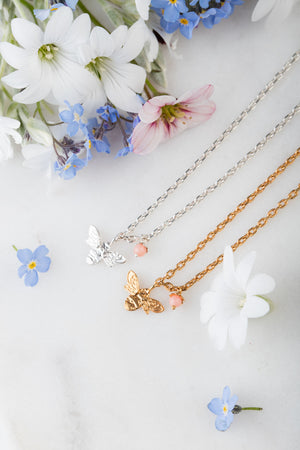 mini bee necklace