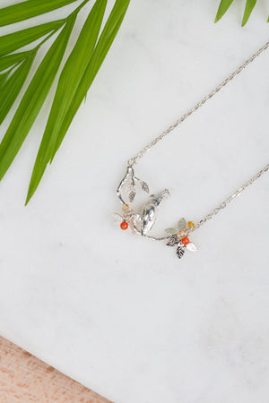 Cockatoo On Branch Pendant