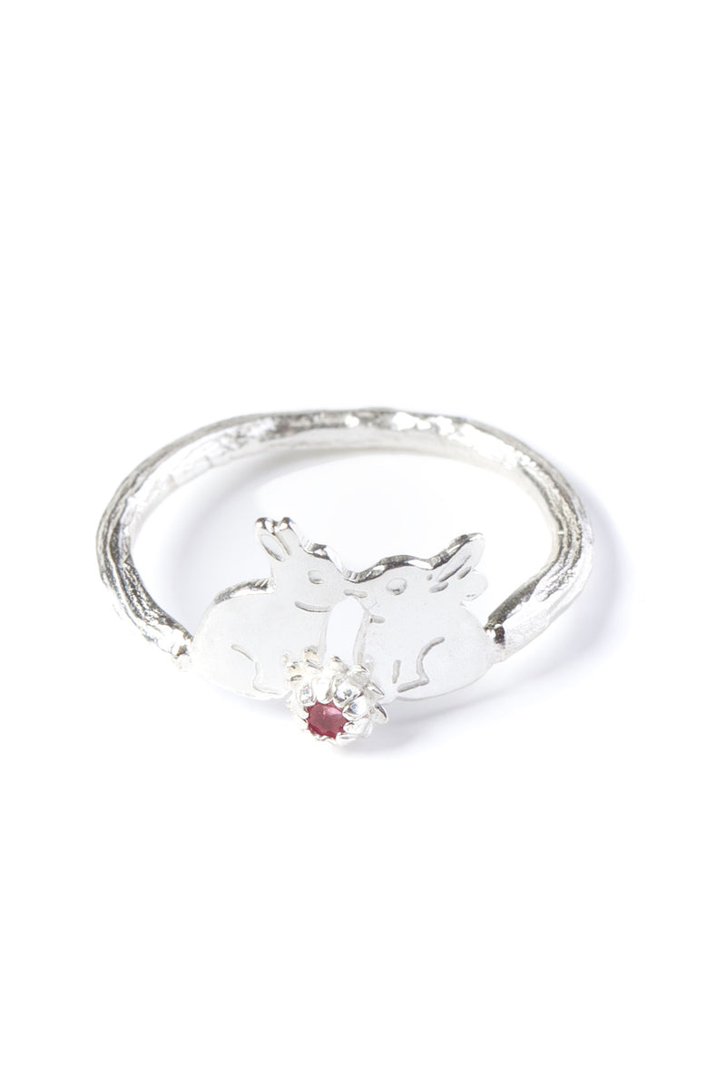 925 Sterling Silver with pink tourmaline