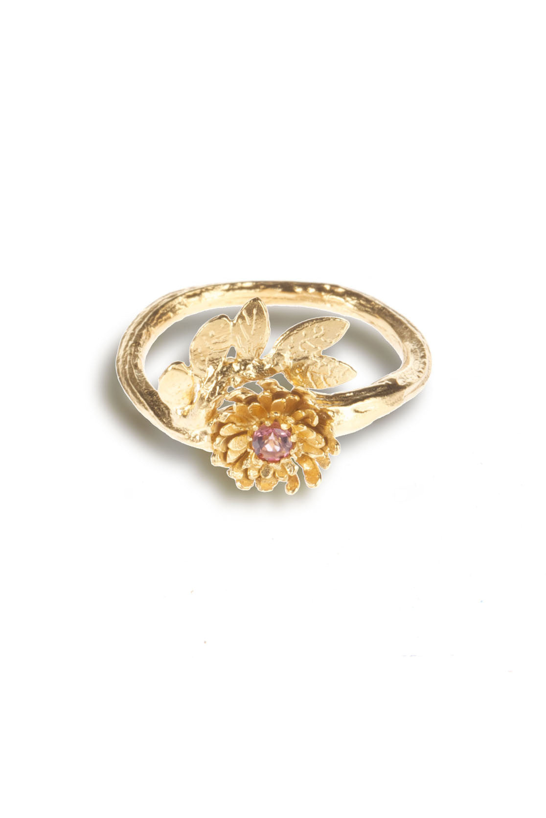 22ct Gold Vermeil with pink tourmaline
