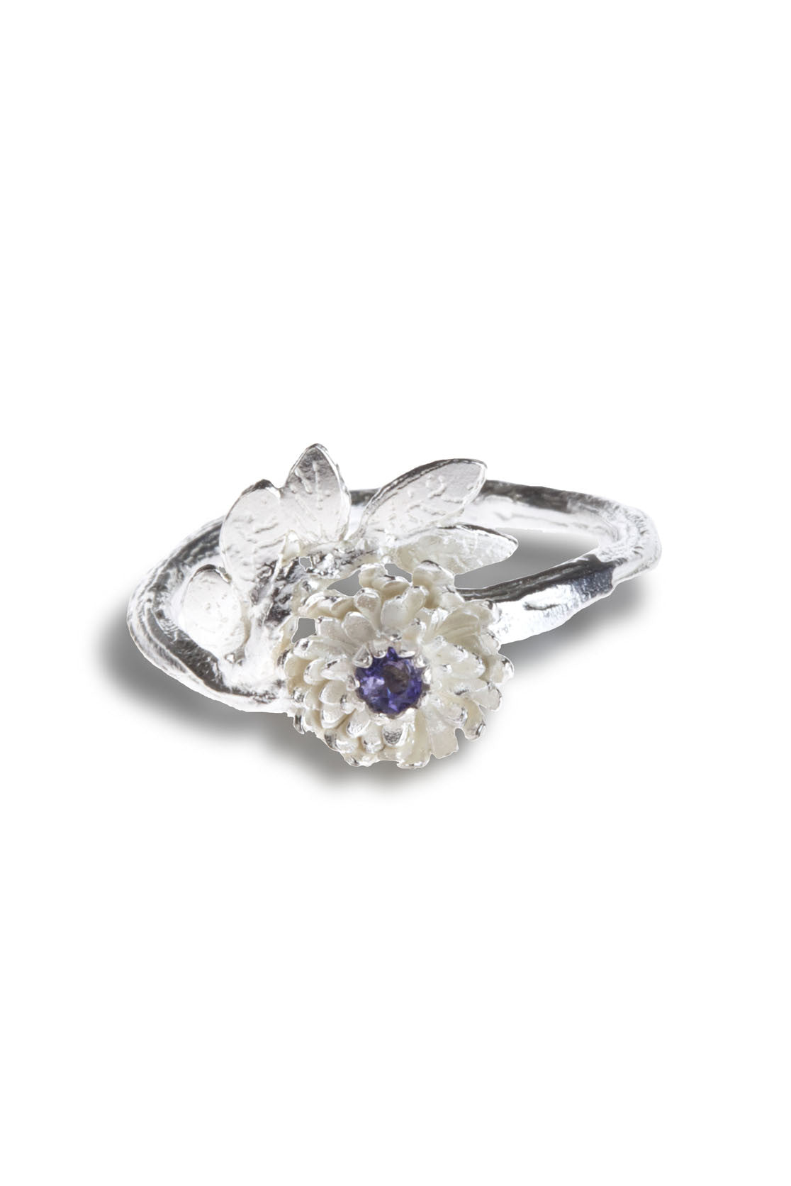 925 Sterling SIlver with iolite