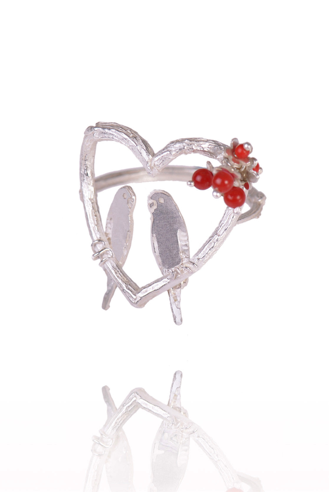 Love Birds in a Heart Ring