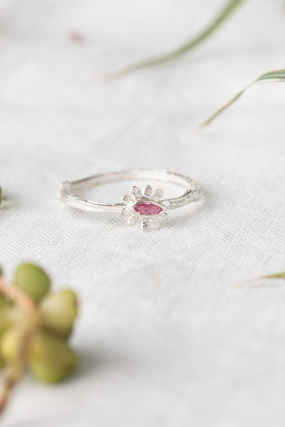 Marquise flower ring