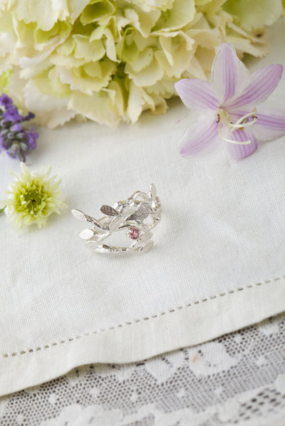 Bird and Leaves Ring