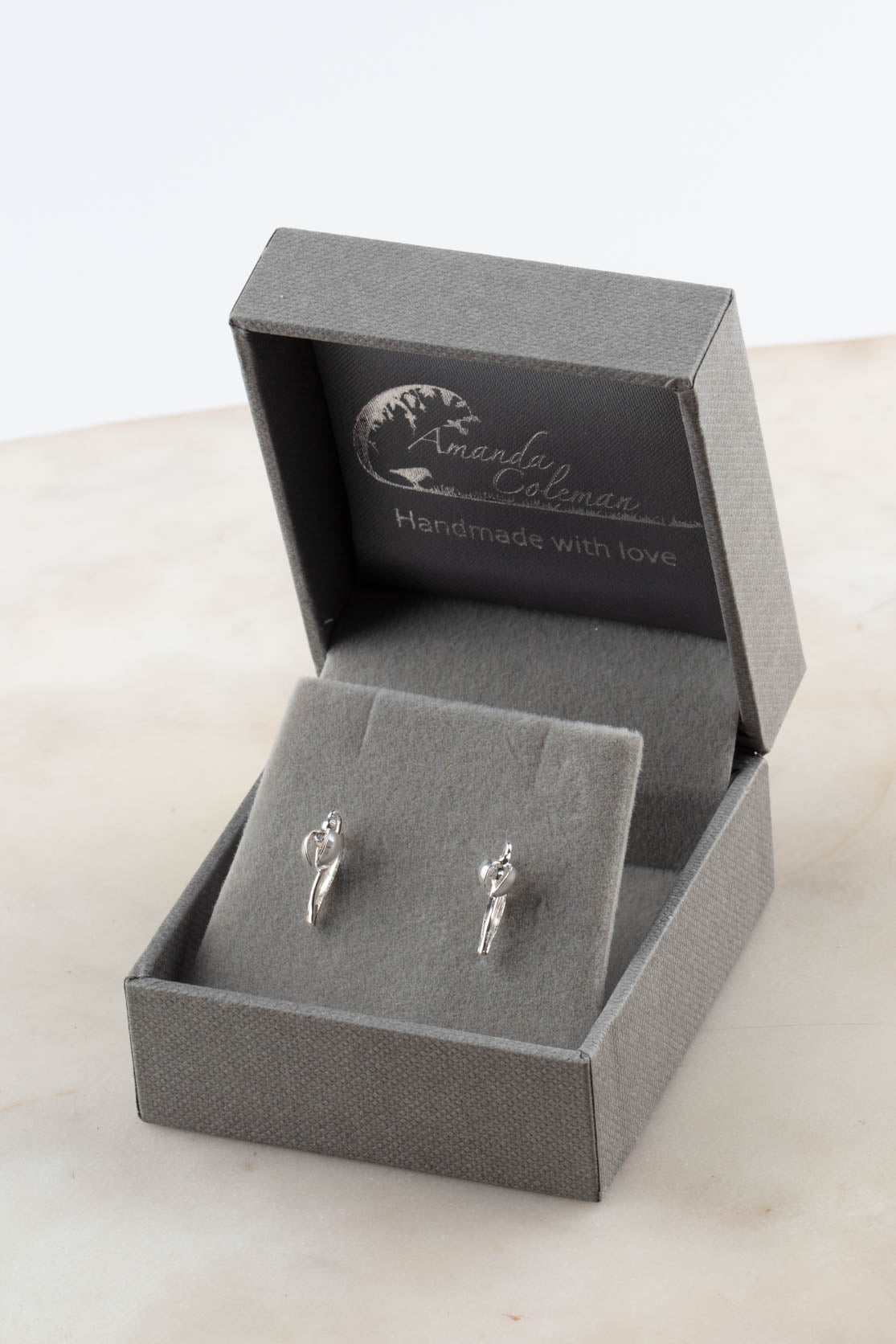 Silver Snowdrop Earring - Stud Of The Month #5 - February 2021