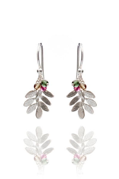 Leaf On Hook Earrings