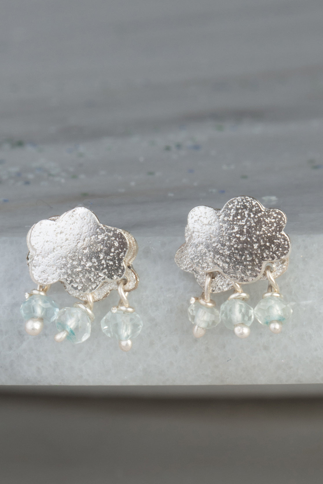 raincloud stud earrings