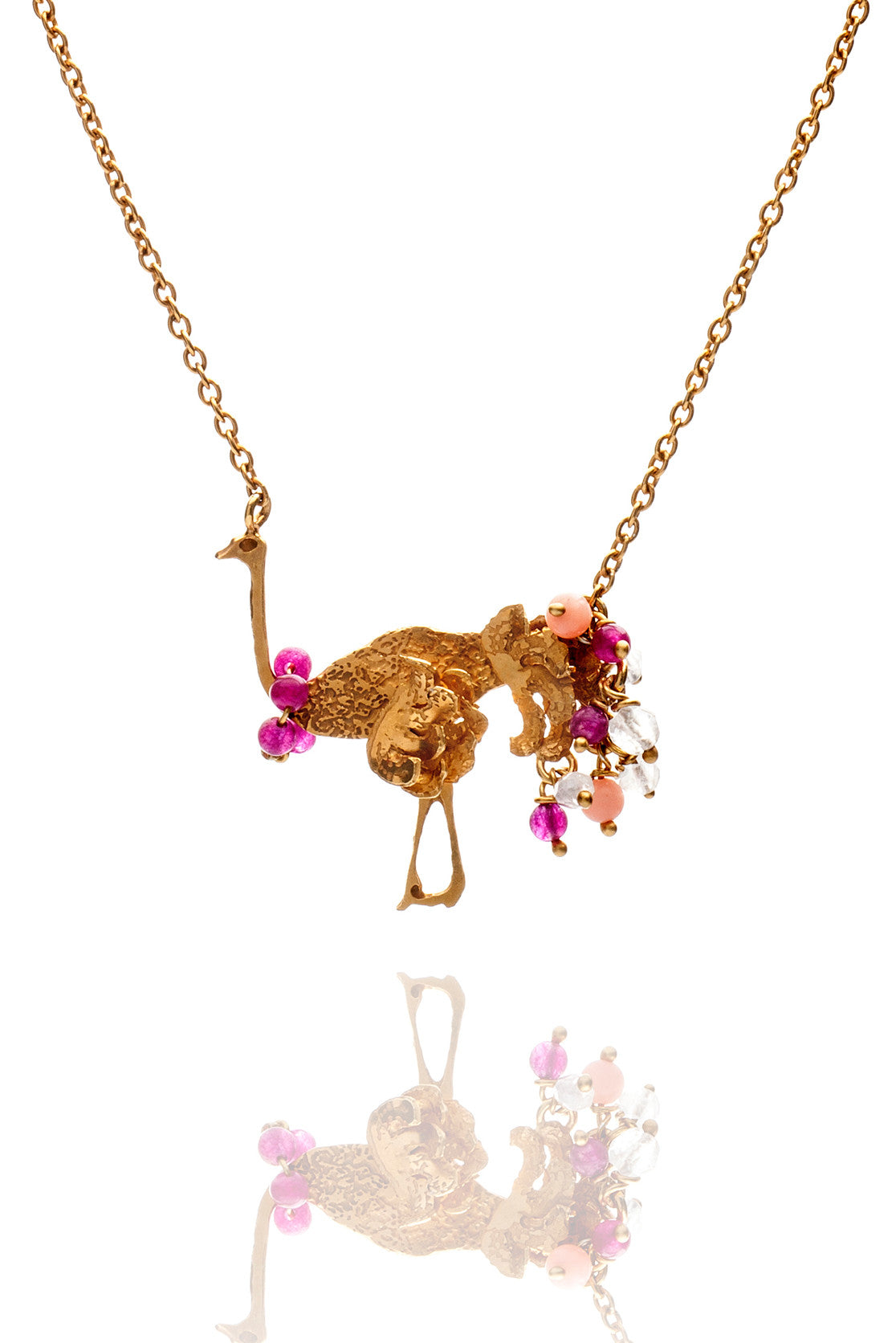 22ct Gold Vermeil with pinks