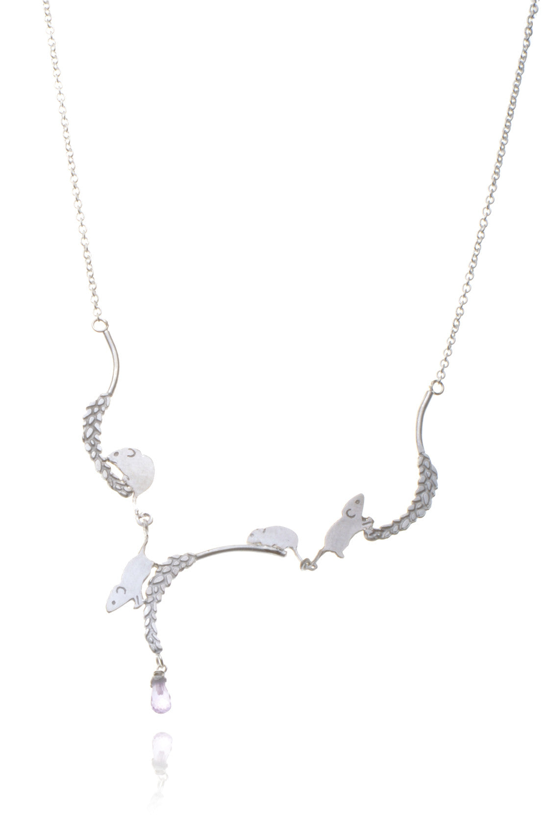 Playful Field mouse necklace