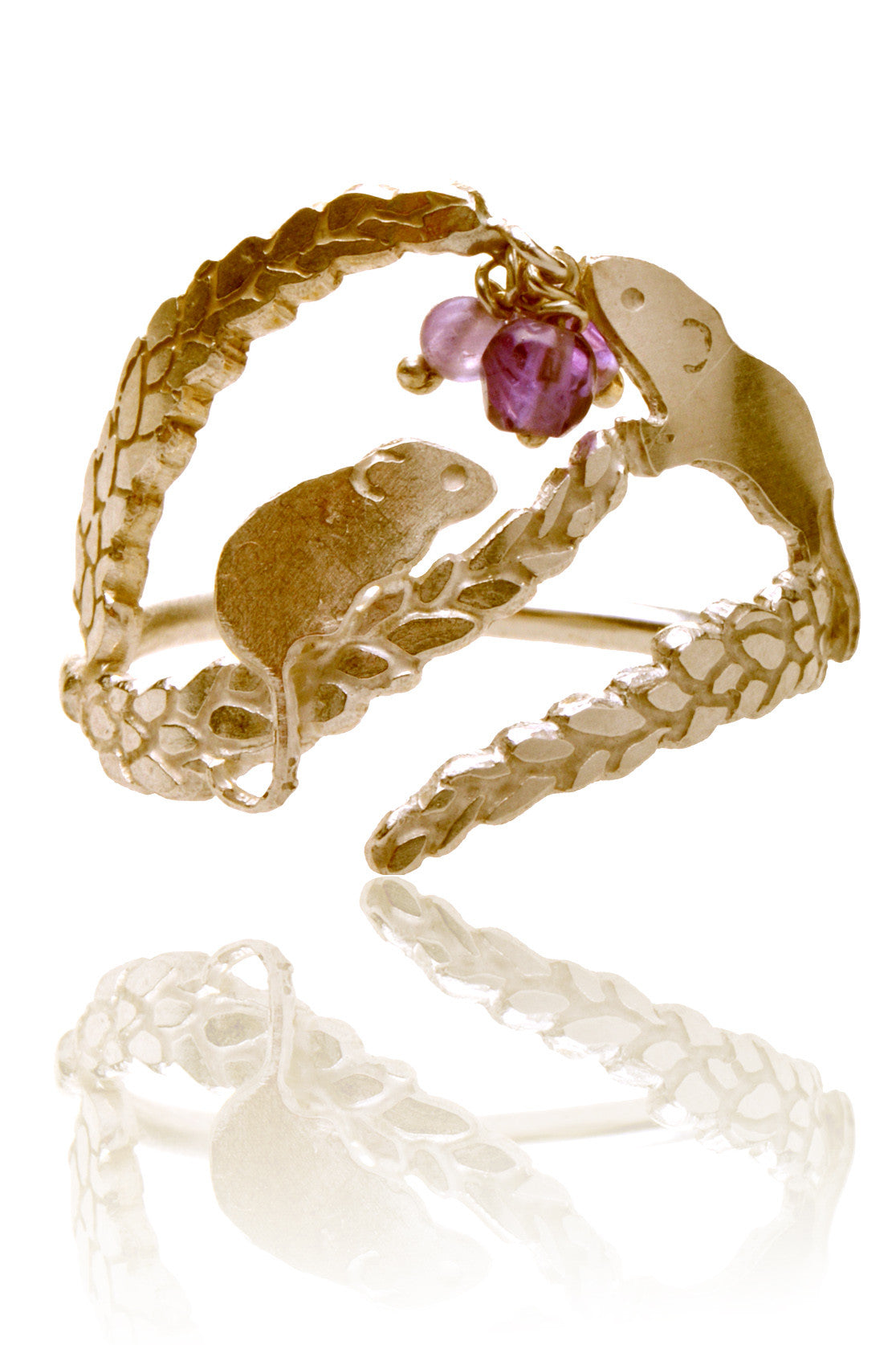 Playful Field mouse ring