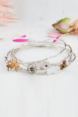 silver with grey pearl