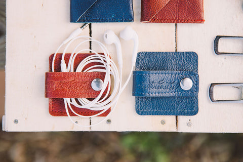 Rethreaded Cord Organizer and Cable Keeper Leather