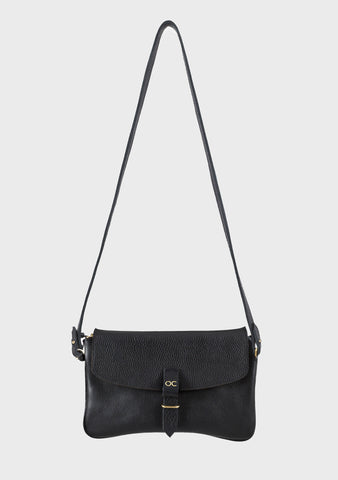 Olive Clutch Bag - Black Leather