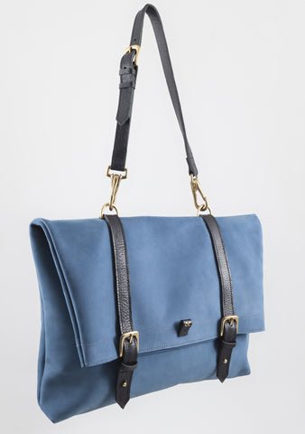 Olive Large Fold Bag - Nubuck