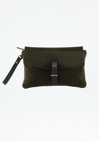 Mini Olive - Suede and Leather