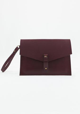 Mayfair Clutch - Oxblood