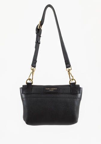 Mini Olive - Black Calf Leather