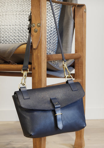 Mini Olive - Navy Leather