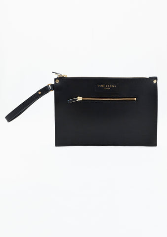 Olive Edge Clutch - Black