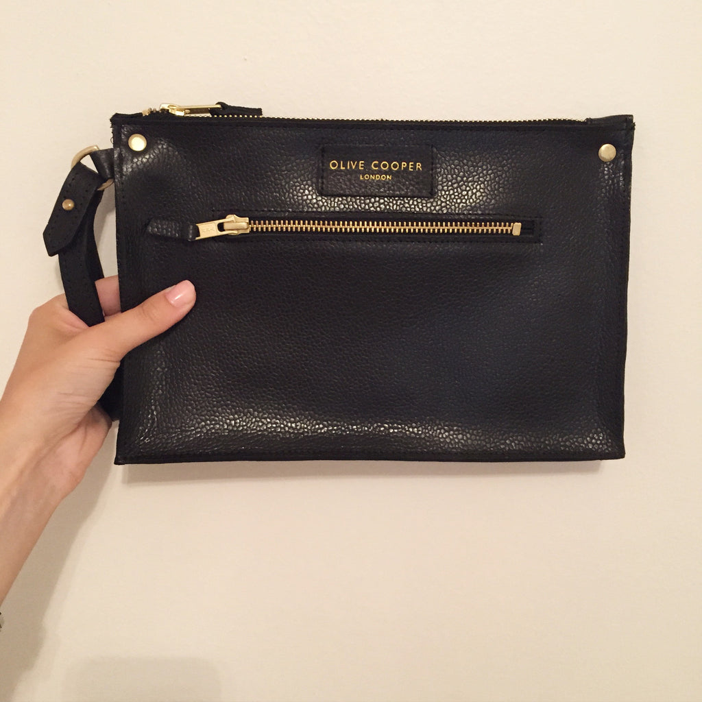 Olive Edge Clutch - Black SAMPLE