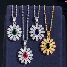 Load image into Gallery viewer, Gold Plated Diamond Jewelry Set