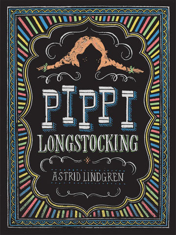 Puffin Chalk Pippi Longstocking Poster
