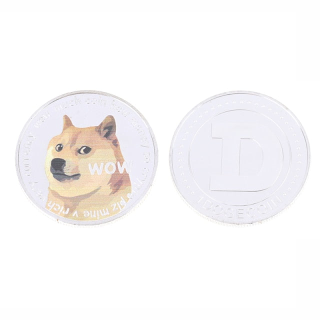 Beautiful WOW Gold Plated Dogecoin Commemorative Coins
