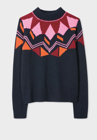 Paul Smith Fairisle Navy jumper