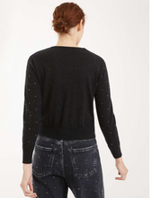 Load image into Gallery viewer, Maxmara Weekend Cashmere and Wool Yarn Diamanté Dark Grey Cardigan-bowns-cambridge