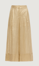 Load image into Gallery viewer, Marella Laminated Gold Trousers-bowns-cambridge